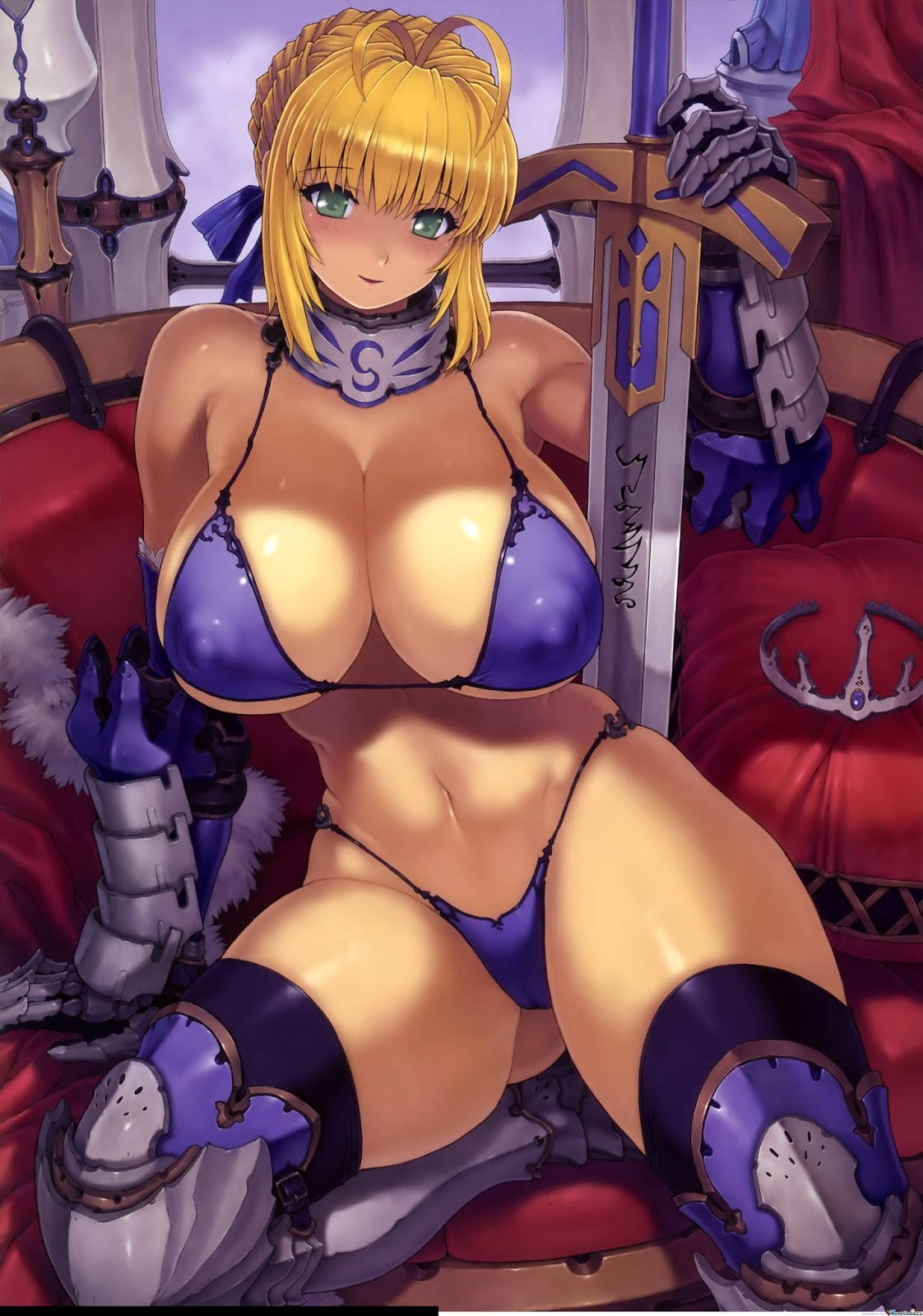 Anime warrior girls nude big tits erotic thumbs