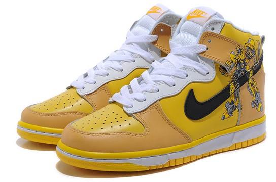 Bumblebee Nike SB Dunk Transformers Shoes Yellow Nikes