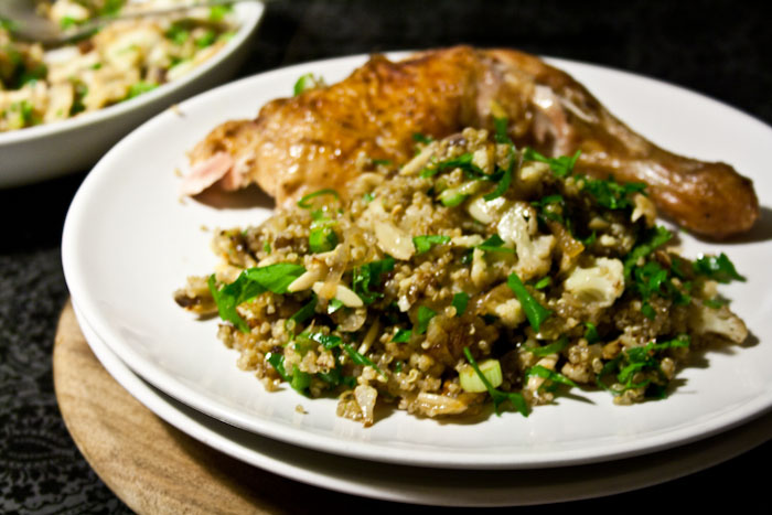 3 hungry tummies roasted cauliflower and quinoa salad for Good side dishes for grilled chicken