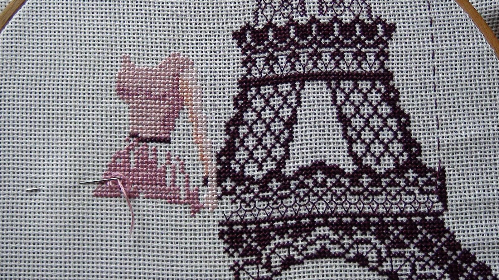 Схема вышивки эйфелеву башню
