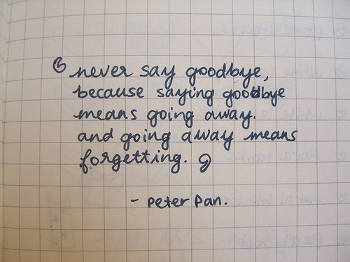 never say goodbye quote inspirational picture quotes