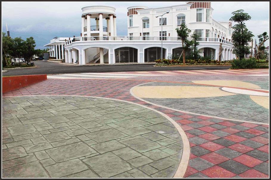 Lantai Beton Motif Batuan Alami Cantik