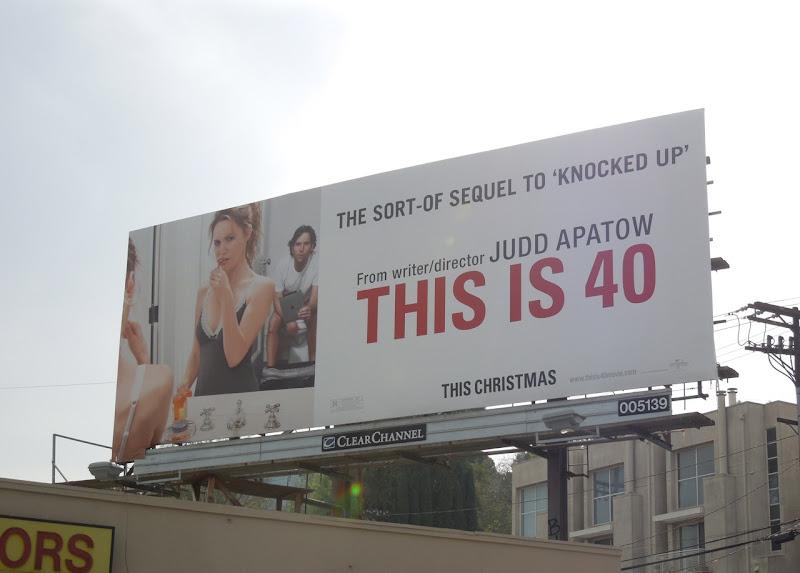 This is 40 movie billboard