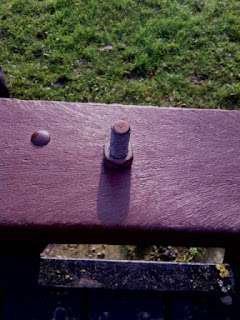 Geocache disguised as a bolt