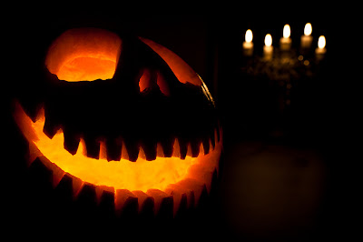 how to photograph jack o lantern