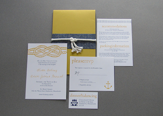Wicked Bride Stationery Modern Nautical Wedding Invitation Suite
