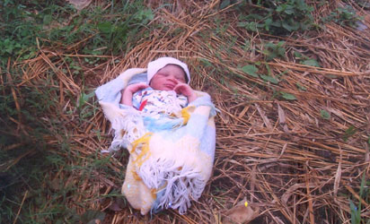 mother abandons baby in ilesha