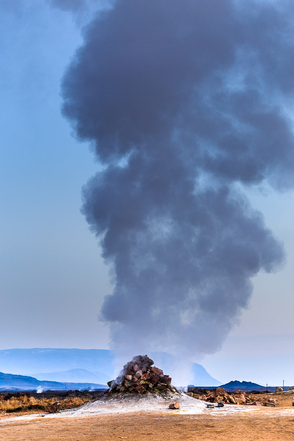 steaming fumarole