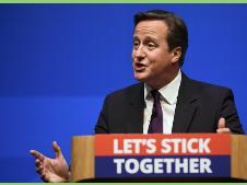 David Cameron promete más autonomía a Escocia a 2 días del referéndum