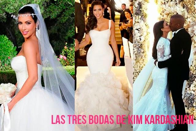 vestidos de novia boda Kim Kardashian Kayne West hermanas bolena