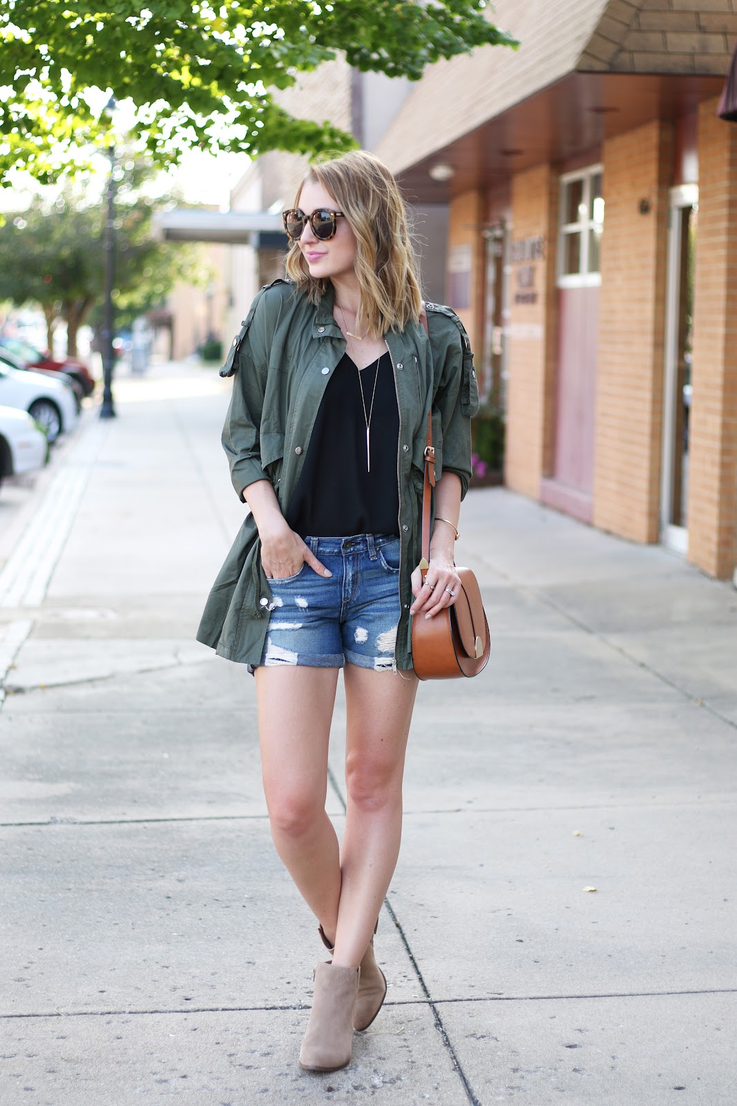 Rag & Bone Boyfriend Shorts + Military Jacket