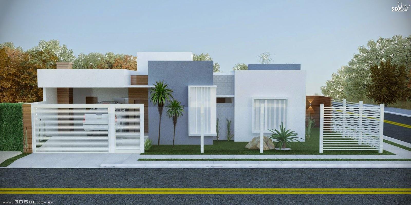 Terrea maquete eletronica casas for Fachada de casas