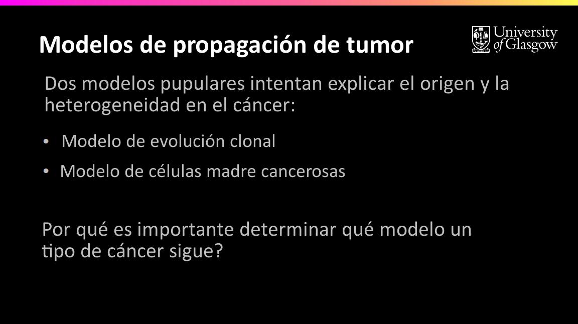 6.11 - Células Madre Cancerosas y el Modelo de Evolución Clonal ...