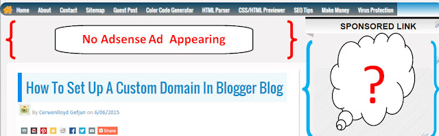 fix adsense not showing on blogger after redirecting