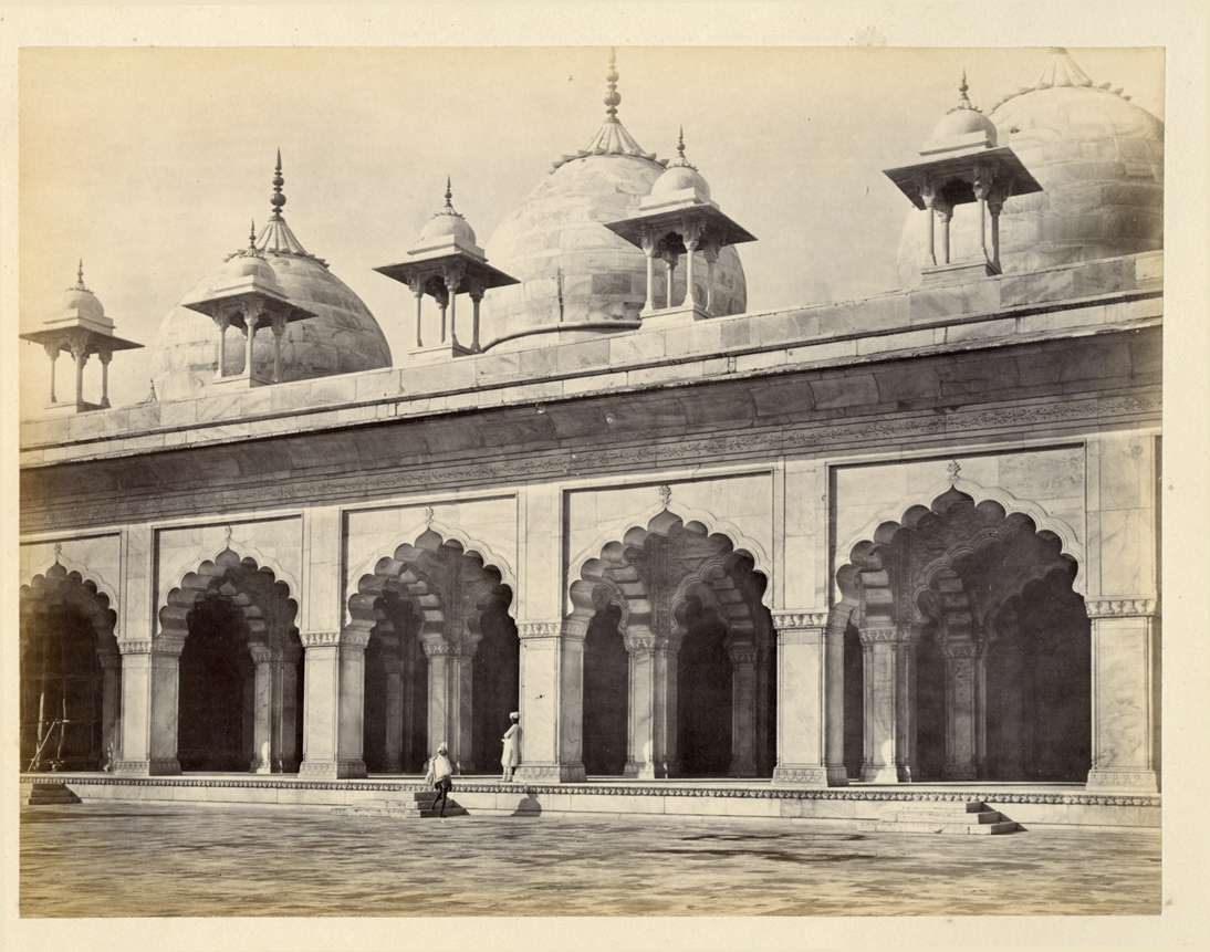 A courtyard view of Moti Masjid, Agra by Francis Frith - circa 1880s