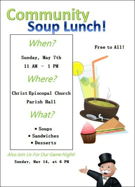 5-7 Community Soup Lunch