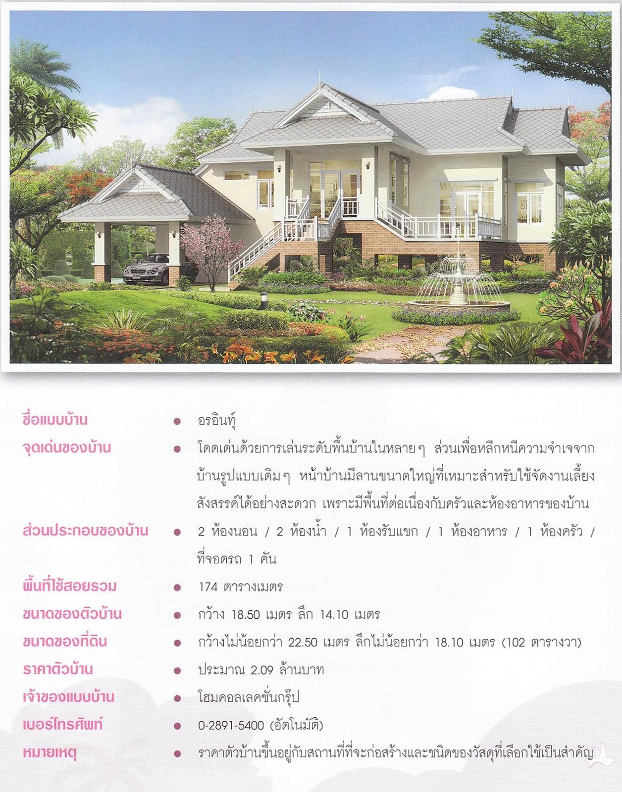 รวมแบบบ้านจาก Magazine (Thaihomeplan)( 4552/1 )