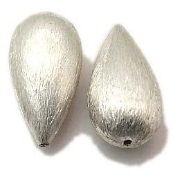 Classical sterling silver brushed beads