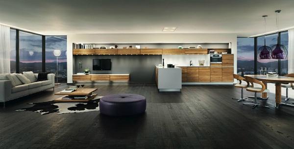 Modern furniture Black brown dining room decor