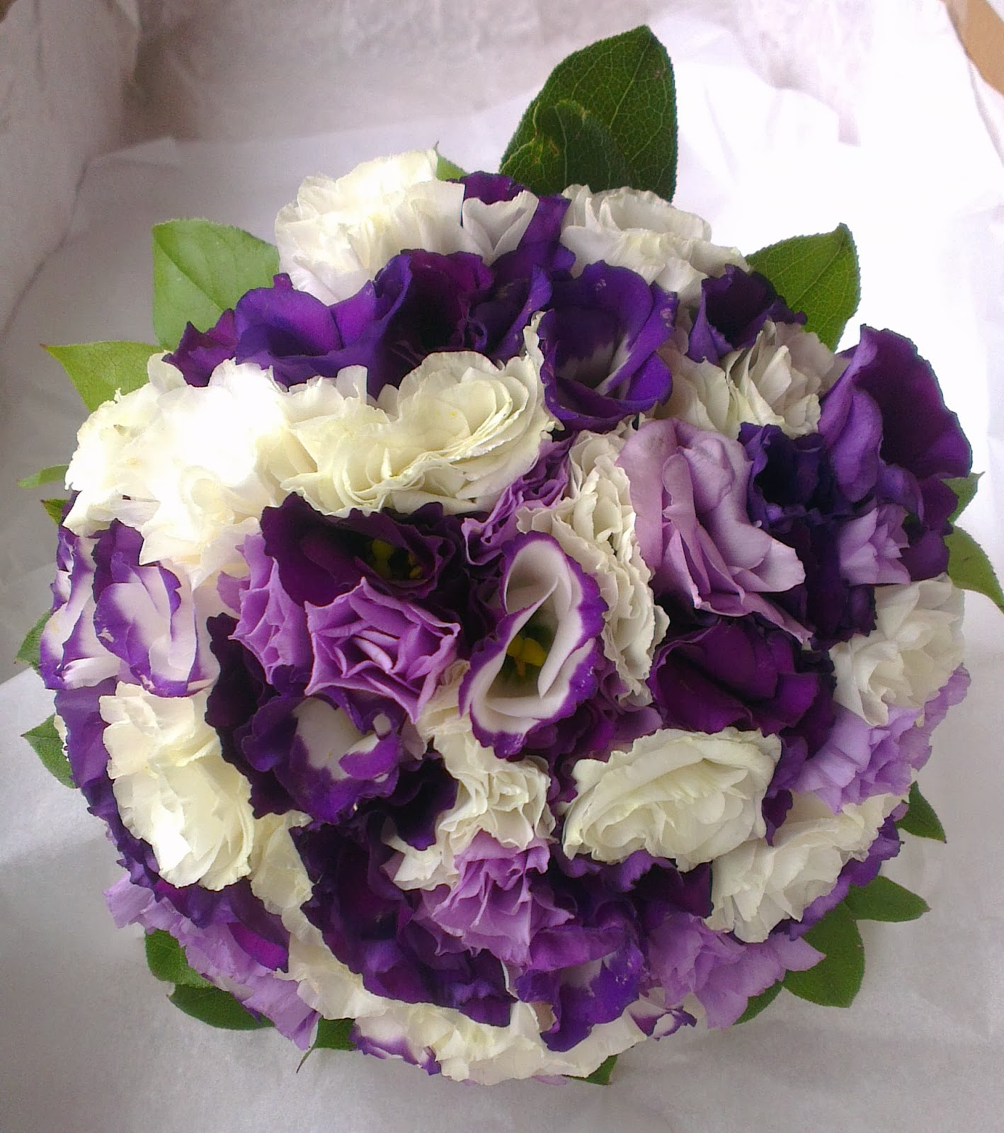 Sandra's Flower Studio: Purple and White wedding flowers