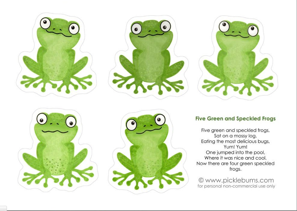 five speckled frogs printables five green and speckled frogs a