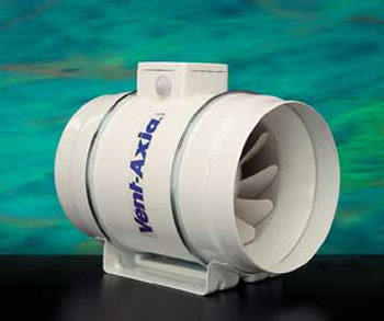 The Vent-Axia ACM100 Mixed flow 100mm In-Line Extractor Fan
