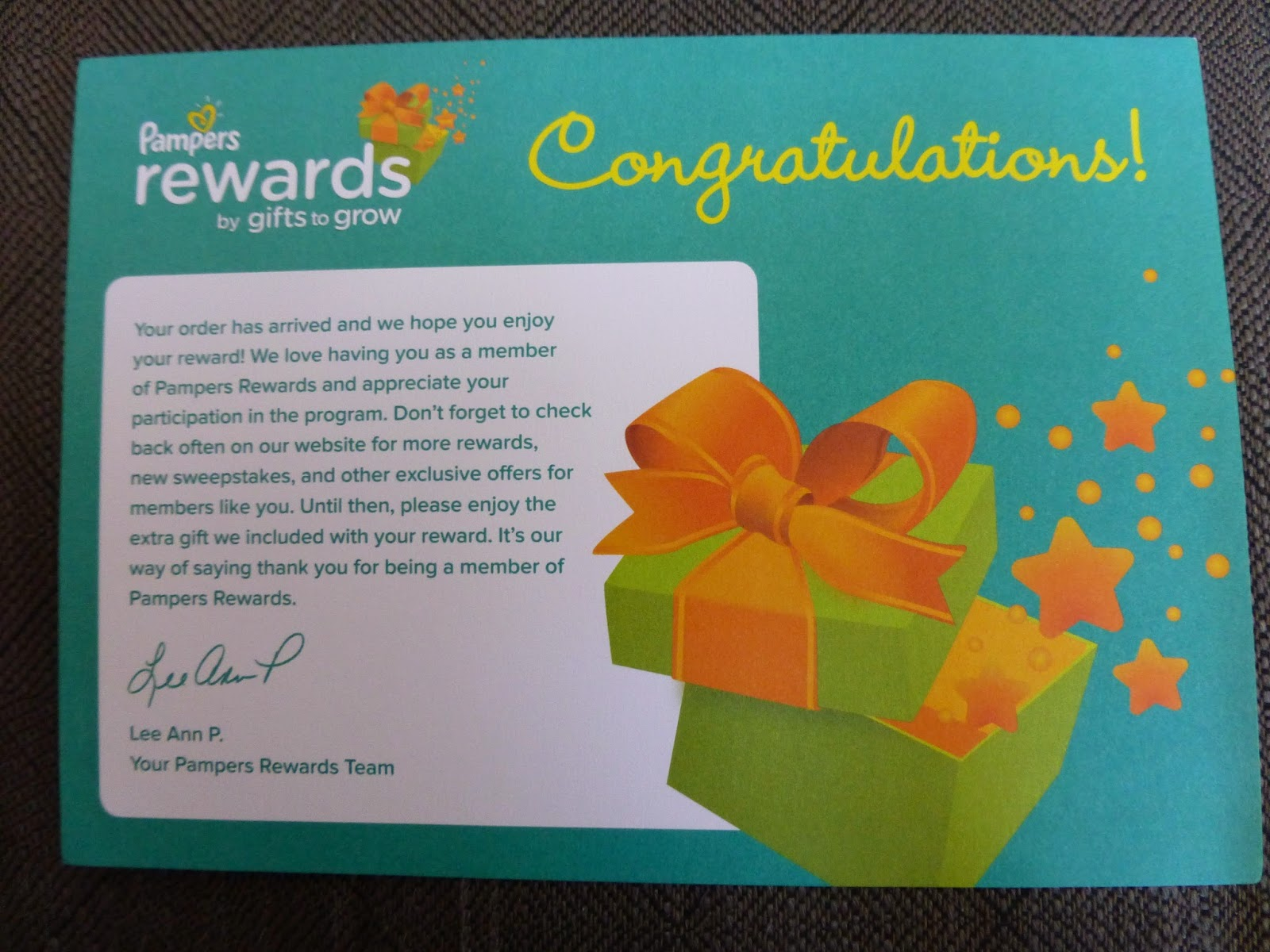 Preemie Blessings: We Got Our Pampers Reward