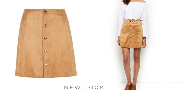 suede skirt new look