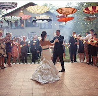 Wedding Dance Floor Decorated With Parasols