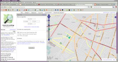 Imagen de cómo exportar datos de OpenStreetMap