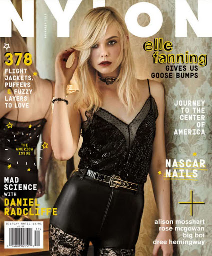 Elle Fanning Nylon Magazine November 2015 cover