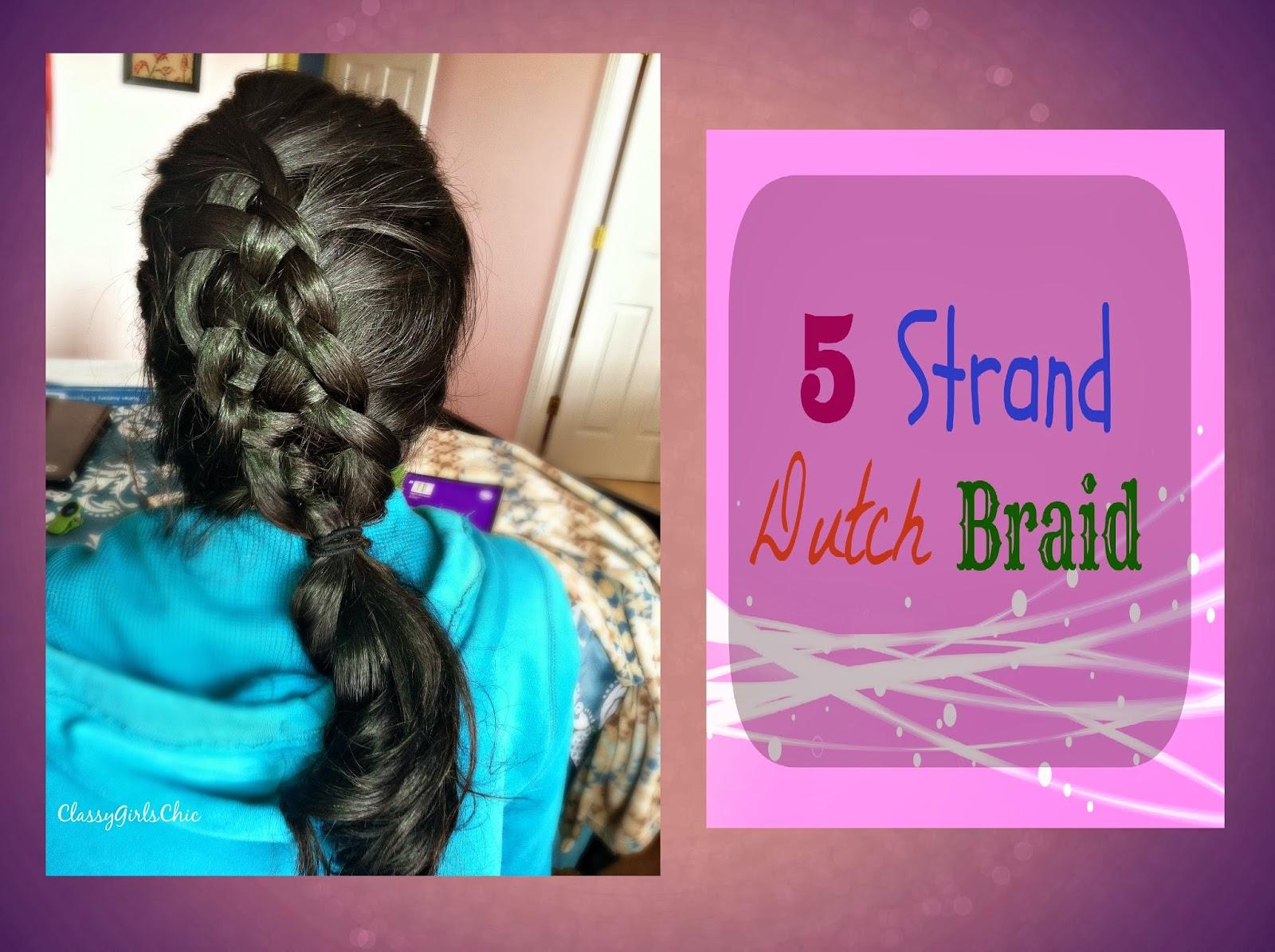Dutch 4strand braid tutorial  HairAndNailsInspiration