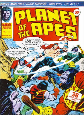 Planet of the Apes, Marvel Comics UK, Apeslayer makes his first appearance