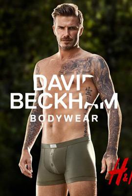 David Beckham bodywear at H&M calzoncillos boxer