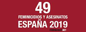 Listado de feminicidios y otros asesinatos de mujeres cometidos por hombres en España en 2019