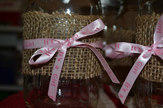 mason jar baby shower table accent (DIY)
