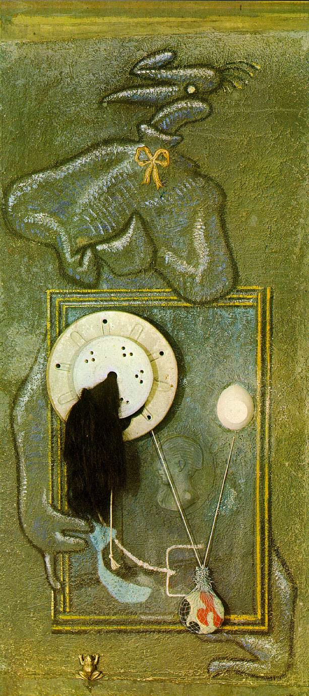 Loplop introduces a young girl (Max Ernst, 1930)