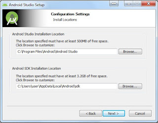 Install android studio setelah terinstall java development kit (JDK)