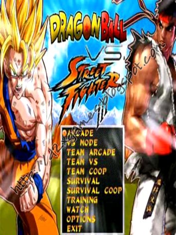 Free Download Games - Dragon Ball vs Street Fighter III MUGEN