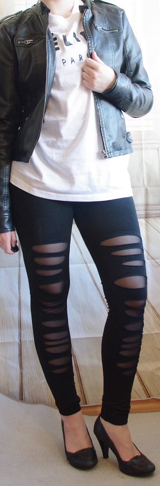 Outfit Leggins and Leather