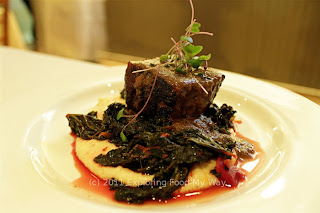 Braised Brisket with Celeriac Polenta and Braised Kale