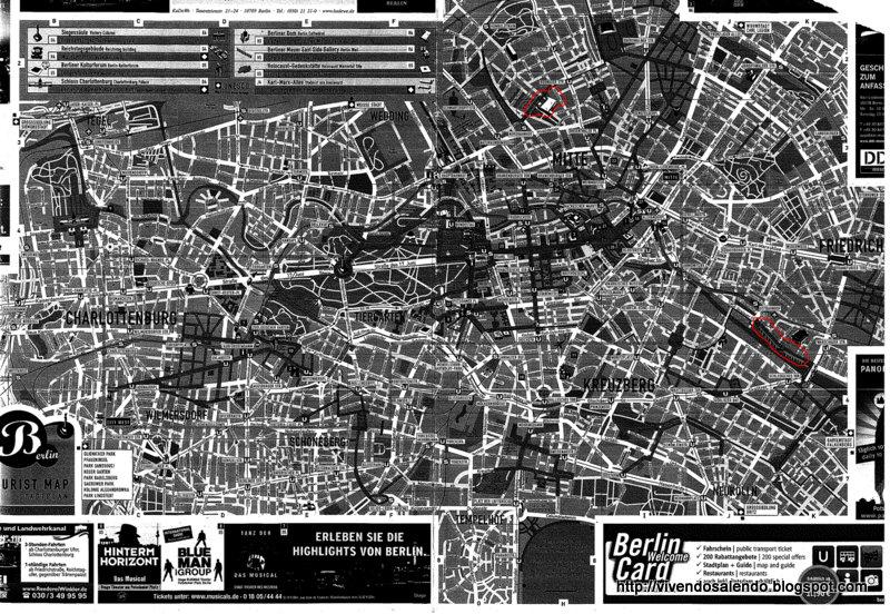 Pianta Muro Berlino : Vivendo salendo dicembre