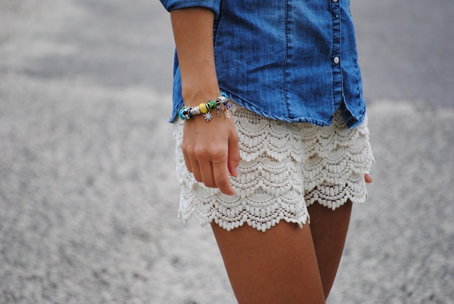 For a no-fail night-out look, slip on lace shorts with heels, a tank, and statement jewelry. And for the true trendsetters, take on paperbag waistlines, denim shortalls, or baggy boyfriend shorts. And for the true trendsetters, take on paperbag waistlines, denim shortalls, or baggy boyfriend shorts.