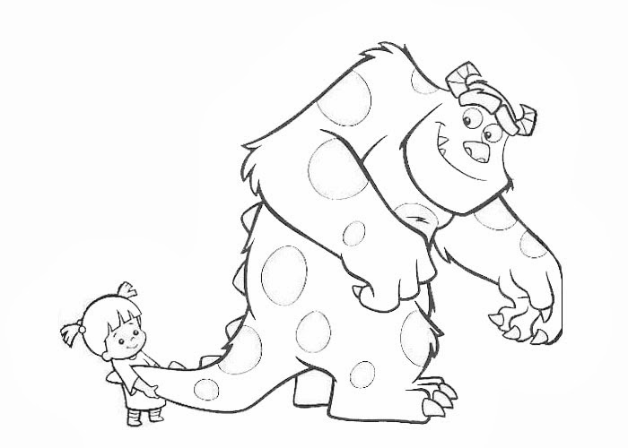 sulley coloring page - sulley and boo coloring pages free coloring pages and