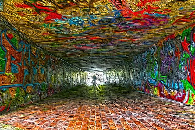 Kunst - Saarbrücken - Graffiti - Graffiti-Tunnel