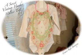 Girls Vintage Hanky Halter Top