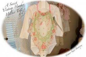 Girls Vintage Hanky Halter Top