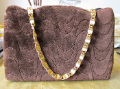 1960s Crown Lewis Vintage Carpet Handbag * Beautiful*