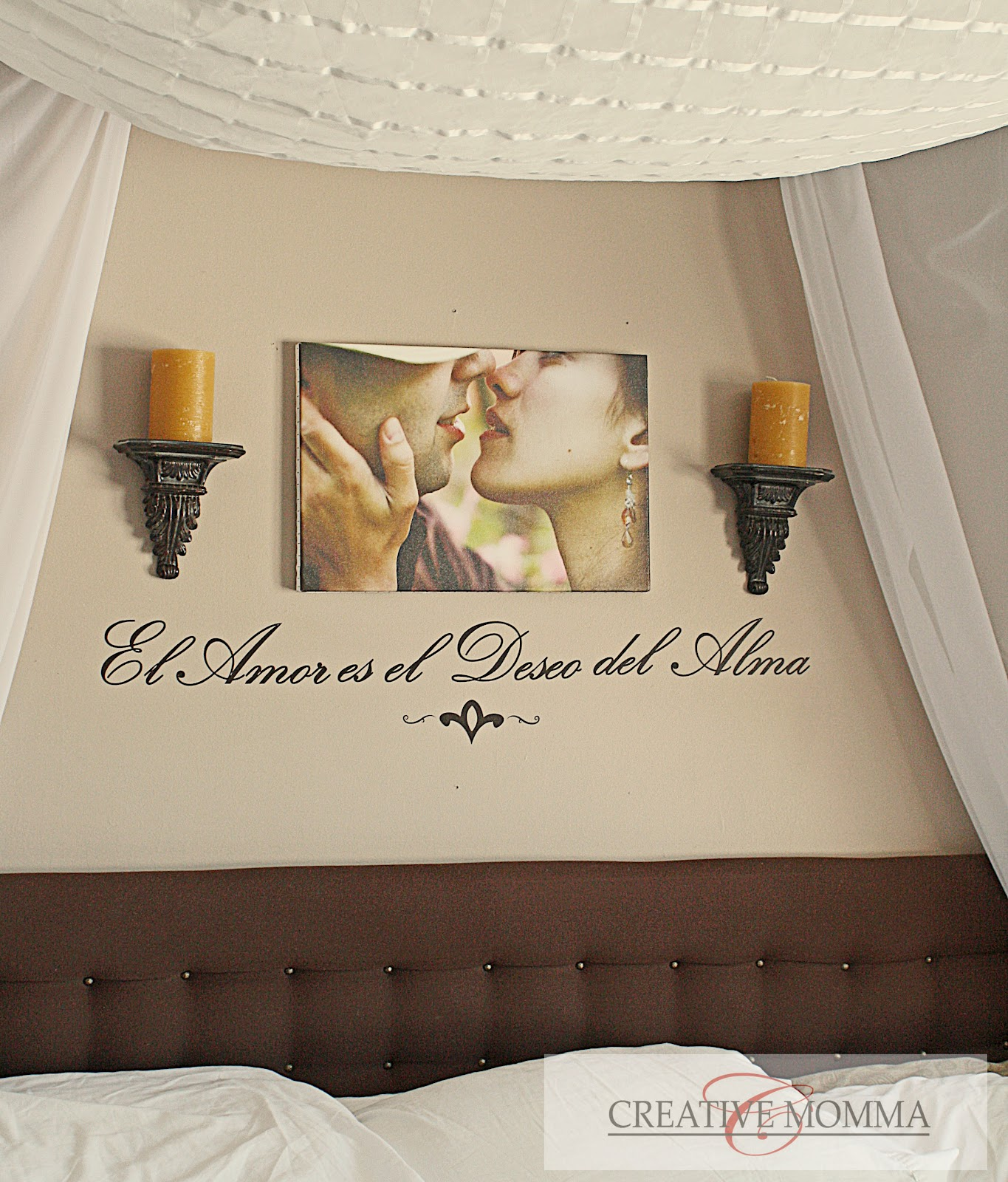 Bedroom Wall Designs For Couples : Creative mommas purple bedroom wall
