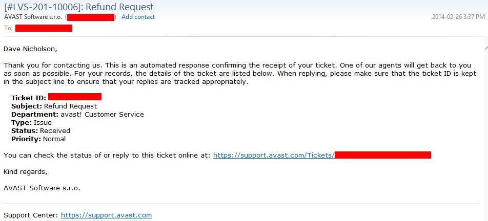 avast payment refund
